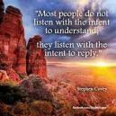Seek First to Understand...